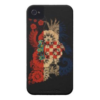 Croatia Flag iPhone 4 Case-Mate Cases