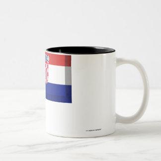 Croatia Flag Jewel Two-Tone Coffee Mug