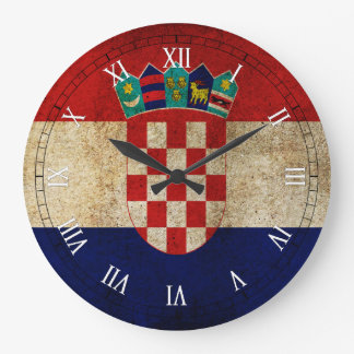 croatia flag large clock