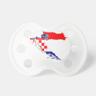 Croatia Flag Map Baby Pacifier