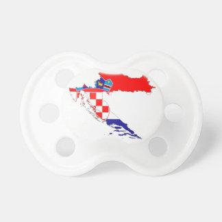 Croatia Flag Map Pacifier