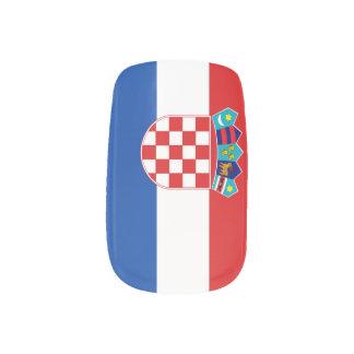 Croatia Flag Nail Wrap