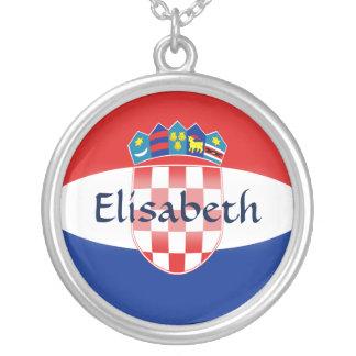 Croatia Flag + Name Necklace