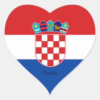Croatia: Flag of Croatia Heart Sticker