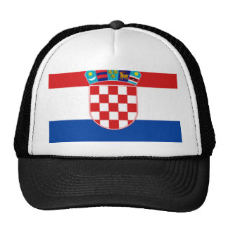 Croatia: Flag of Croatia Trucker Hat