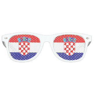 Croatia Flag Party Shades Sunglasses