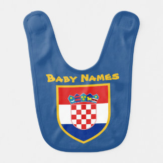 Croatia Flag Personalized Baby Bib