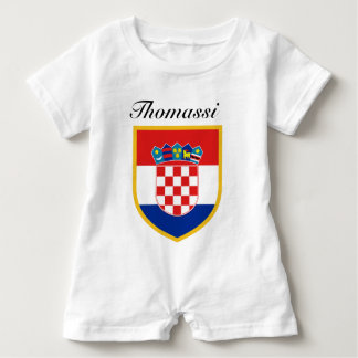 Croatia Flag Personalized Baby Romper