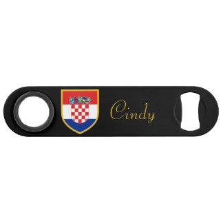 Croatia Flag Personalized Bar Key