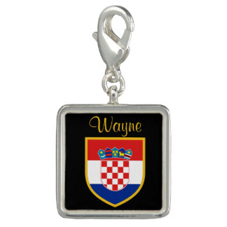 Croatia Flag Personalized Charms
