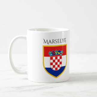 Croatia Flag Personalized Coffee Mug
