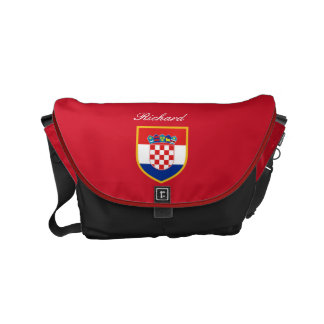 Croatia Flag Personalized Courier Bags