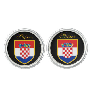 Croatia Flag Personalized Cuff Links