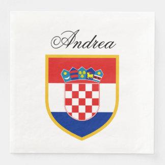 Croatia Flag Personalized Disposable Napkins