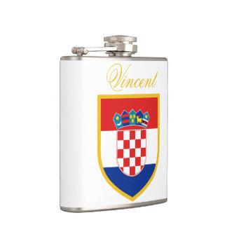 Croatia Flag Personalized Flasks