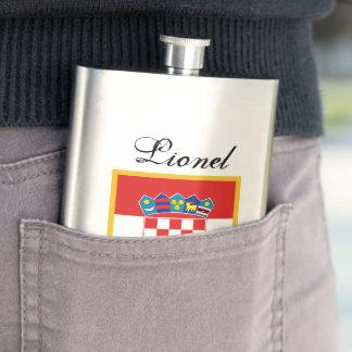 Croatia Flag Personalized Hip Flask