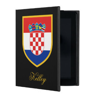 Croatia Flag Personalized iPad Cover