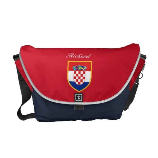 Croatia Flag Personalized Messenger Bags