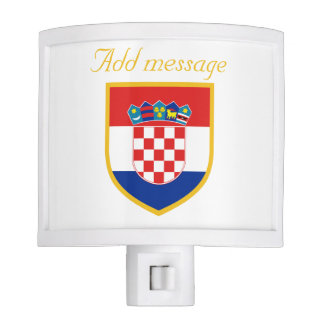 Croatia Flag Personalized Night Lights