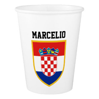 Croatia Flag Personalized Paper Cup