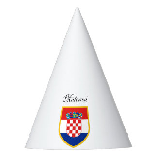 Croatia Flag Personalized Party Hat