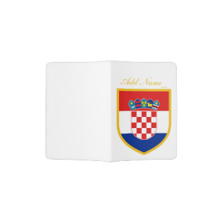 Croatia Flag Personalized Passport Holder