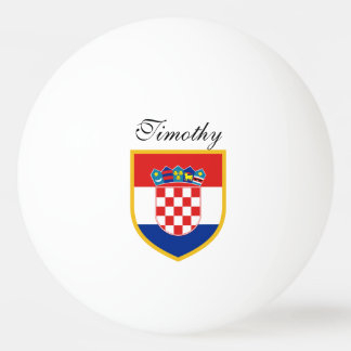 Croatia Flag Personalized Ping Pong Ball