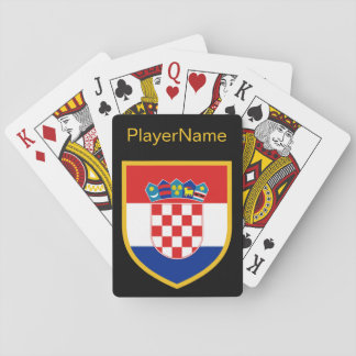 Croatia Flag Personalized Playing Cards