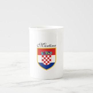 Croatia Flag Personalized Tea Cup