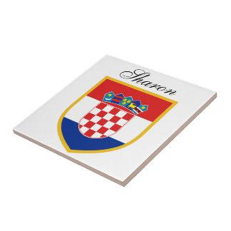 Croatia Flag Personalized Tile