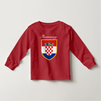 Croatia Flag Personalized Toddler T-shirt
