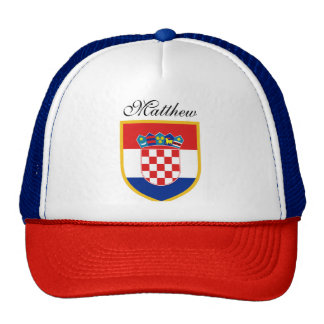 Croatia Flag Personalized Trucker Hat