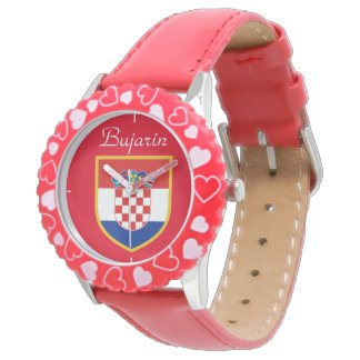 Croatia Flag Personalized Watch