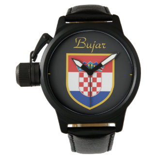 Croatia Flag Personalized Wrist Watches