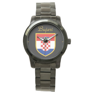 Croatia Flag Personalized Wristwatch