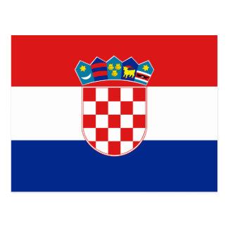 Croatia Flag Postcard