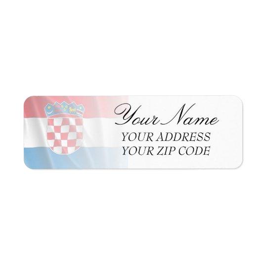 CROATIA FLAG RETURN ADDRESS LABEL