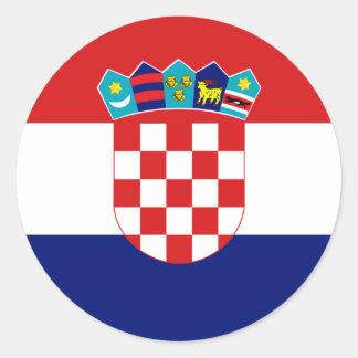 Croatia Flag Round Stickers