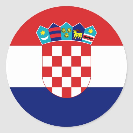 Croatia Flag Round Stickers