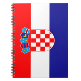 Croatia Flag Spiral Notebook