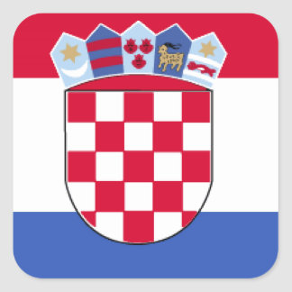 Croatia Flag Square Sticker