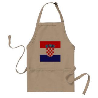 Croatia Flag Standard Apron