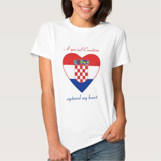Croatia Flag Sweetheart T-Shirt
