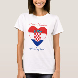 Croatia Flag Sweetheart T-Shirt