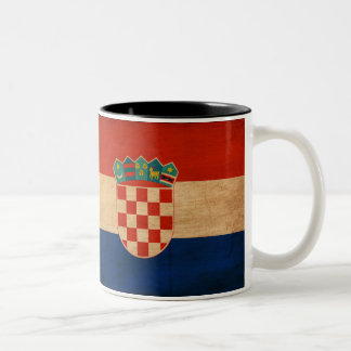Croatia Flag Two-Tone Coffee Mug
