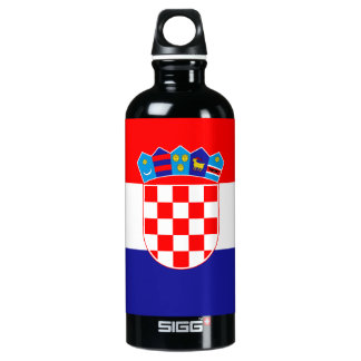 Croatia Flag Water Bottle