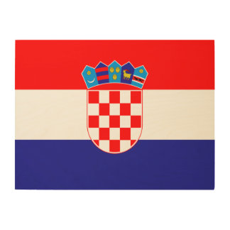 Croatia Flag Wood Wall Decor
