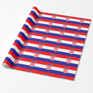 Croatia Flag Wrapping Paper