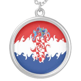 Croatia Gnarly Flag Necklace