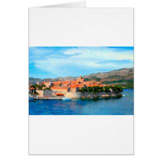 Croatia Harbor Greeting Card